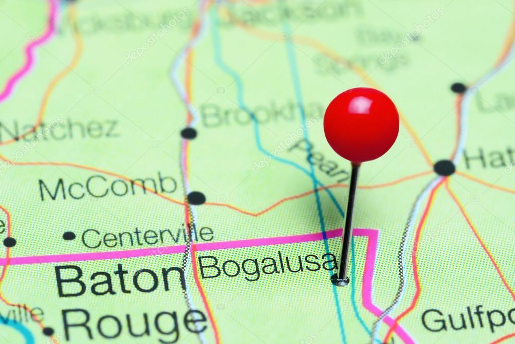 Bogalusa Pinned On A Map Of Louisiana Usa Stock Photo C Dk Photos