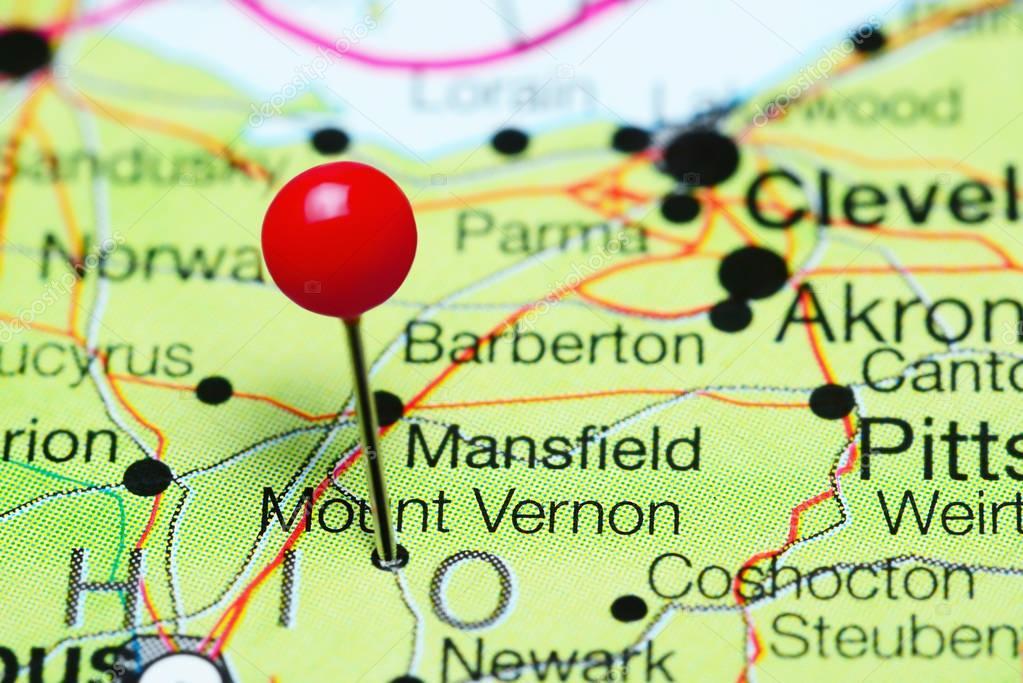 Mount Vernon pinned on a map of Ohio, USA — Stock Photo © dk_photos ...