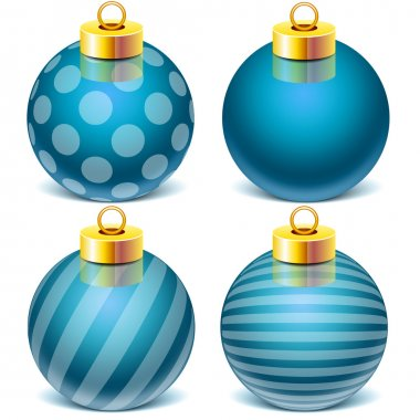 Vector set colletion Christmas Toy Sphere