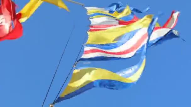 Flaggen Himmel Wind Stoff Nation