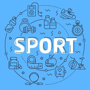 Sport Blue Lines Illustration for prsentation