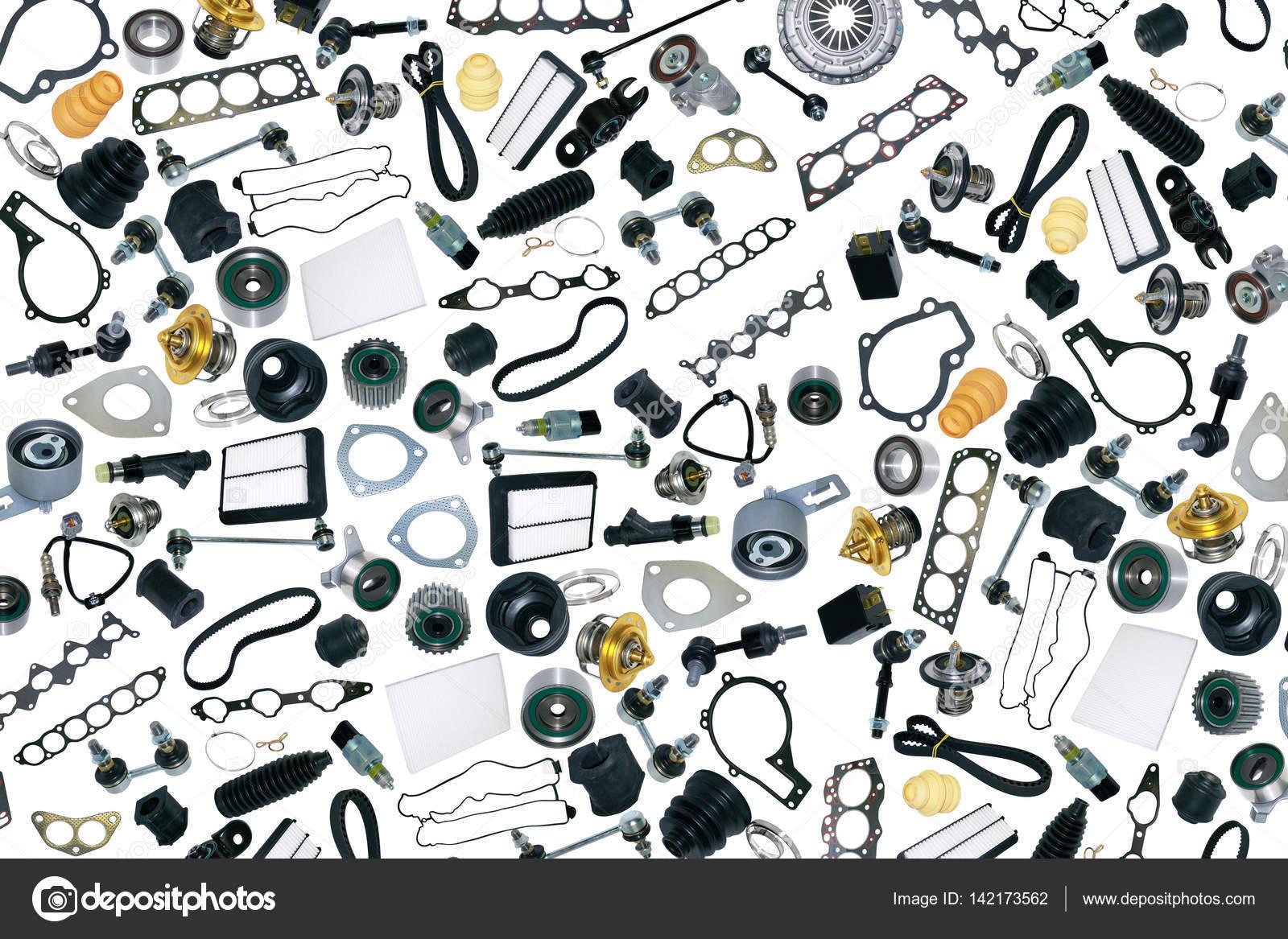 pi ces d tach es voiture sur fond blanc photographie dezay 142173562. Black Bedroom Furniture Sets. Home Design Ideas