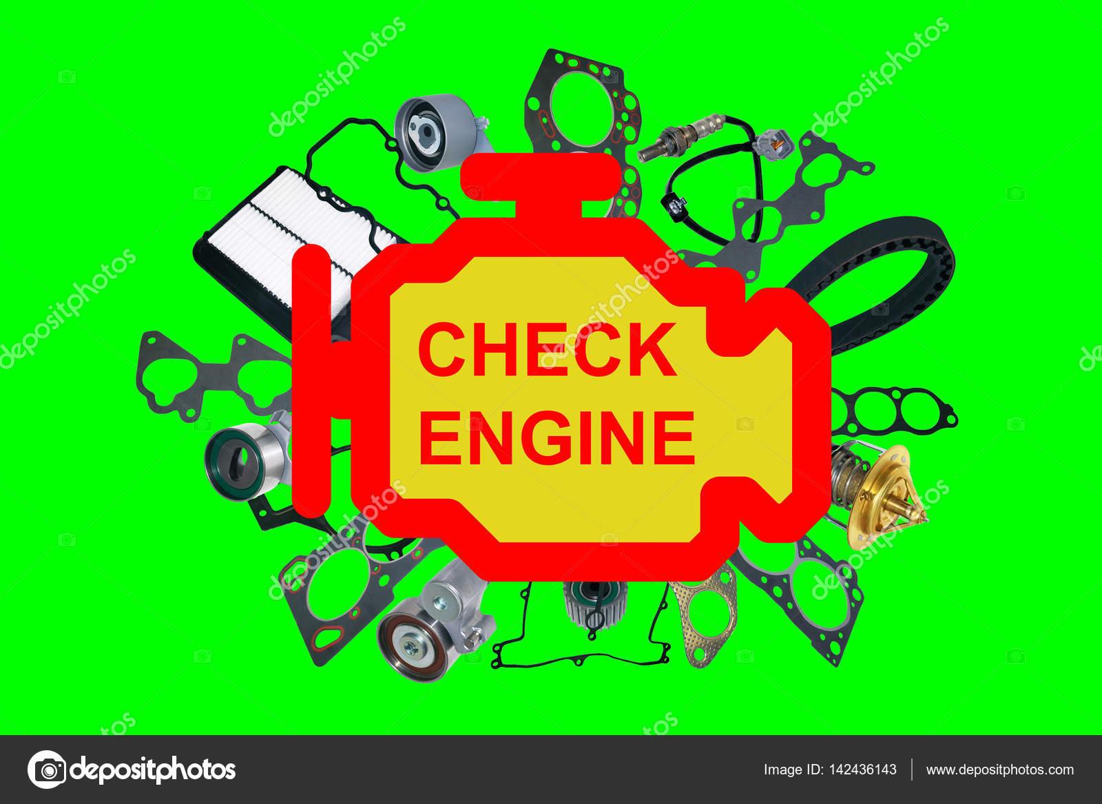 Check Engine Light Symbol U2014 Stock Photo