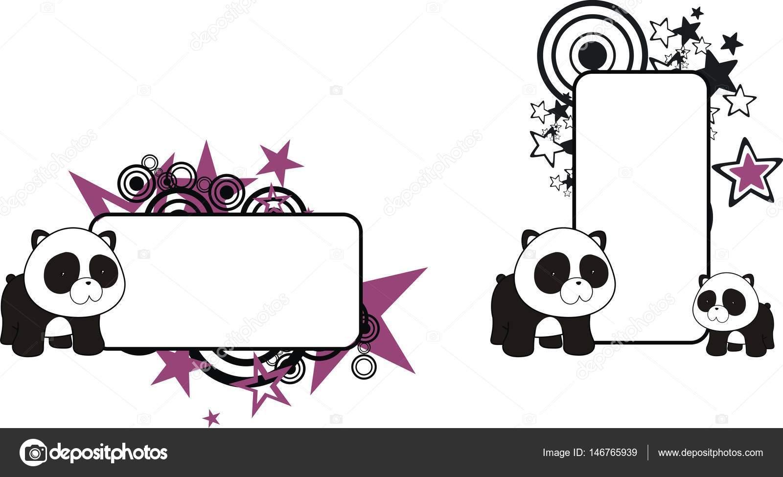 dulce bebé panda oso peluche cartoon copyspace — Archivo Imágenes ...