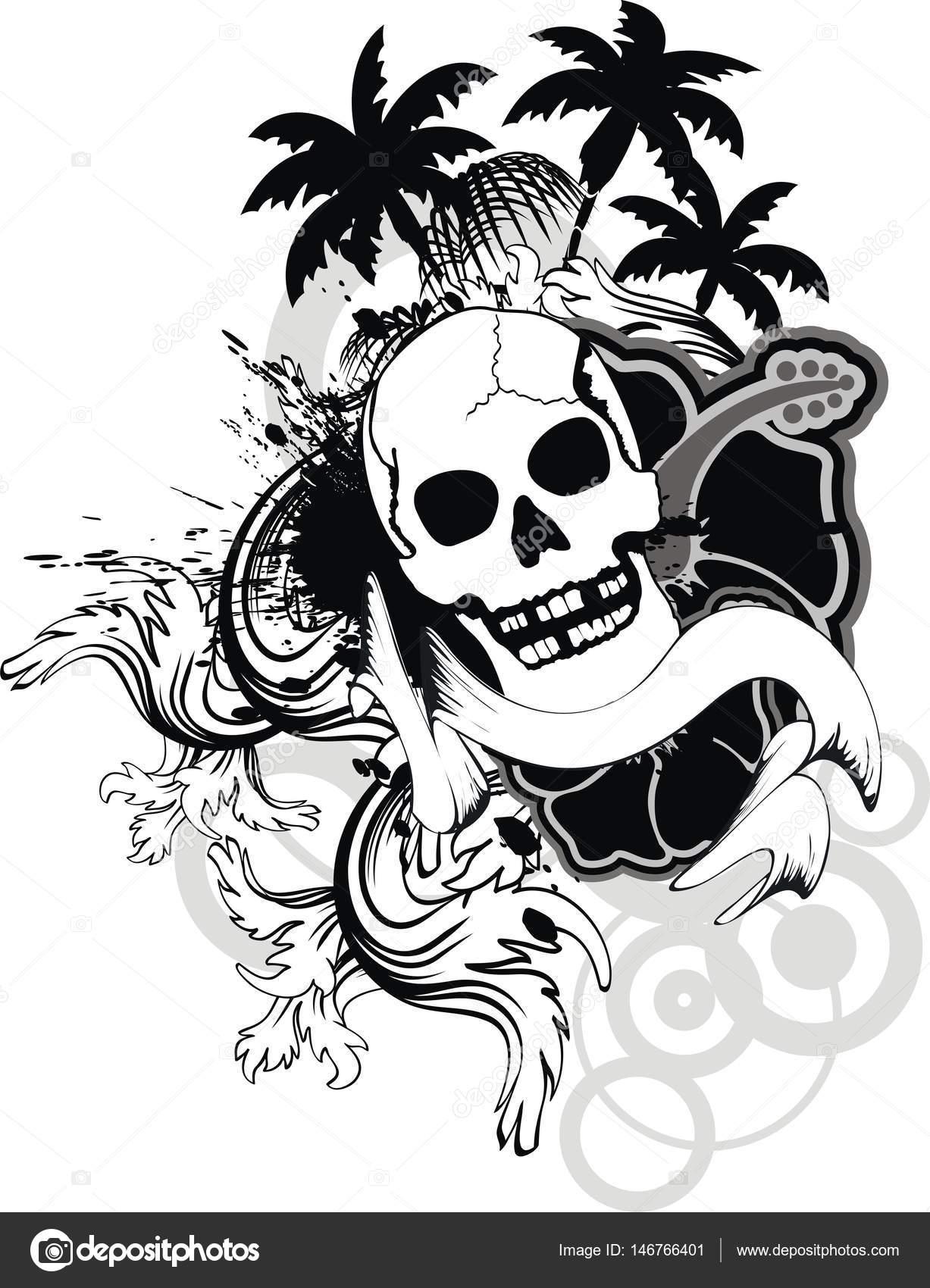 Tatouage De Fleurs Hawaien Tropical Crane Ornement Image