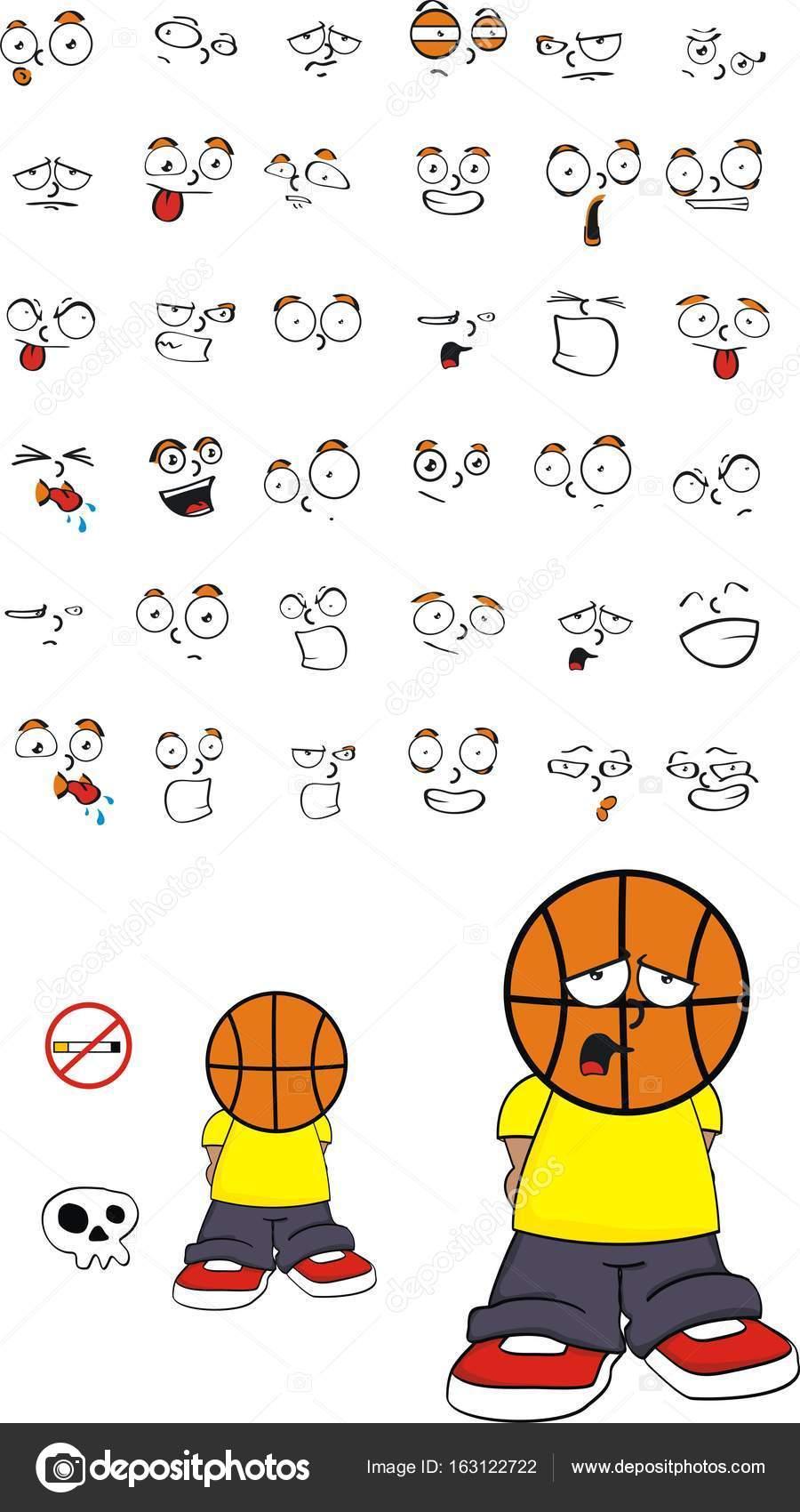 Dibujos Baloncesto Faciles Lindo Baloncesto Triste Cabeza