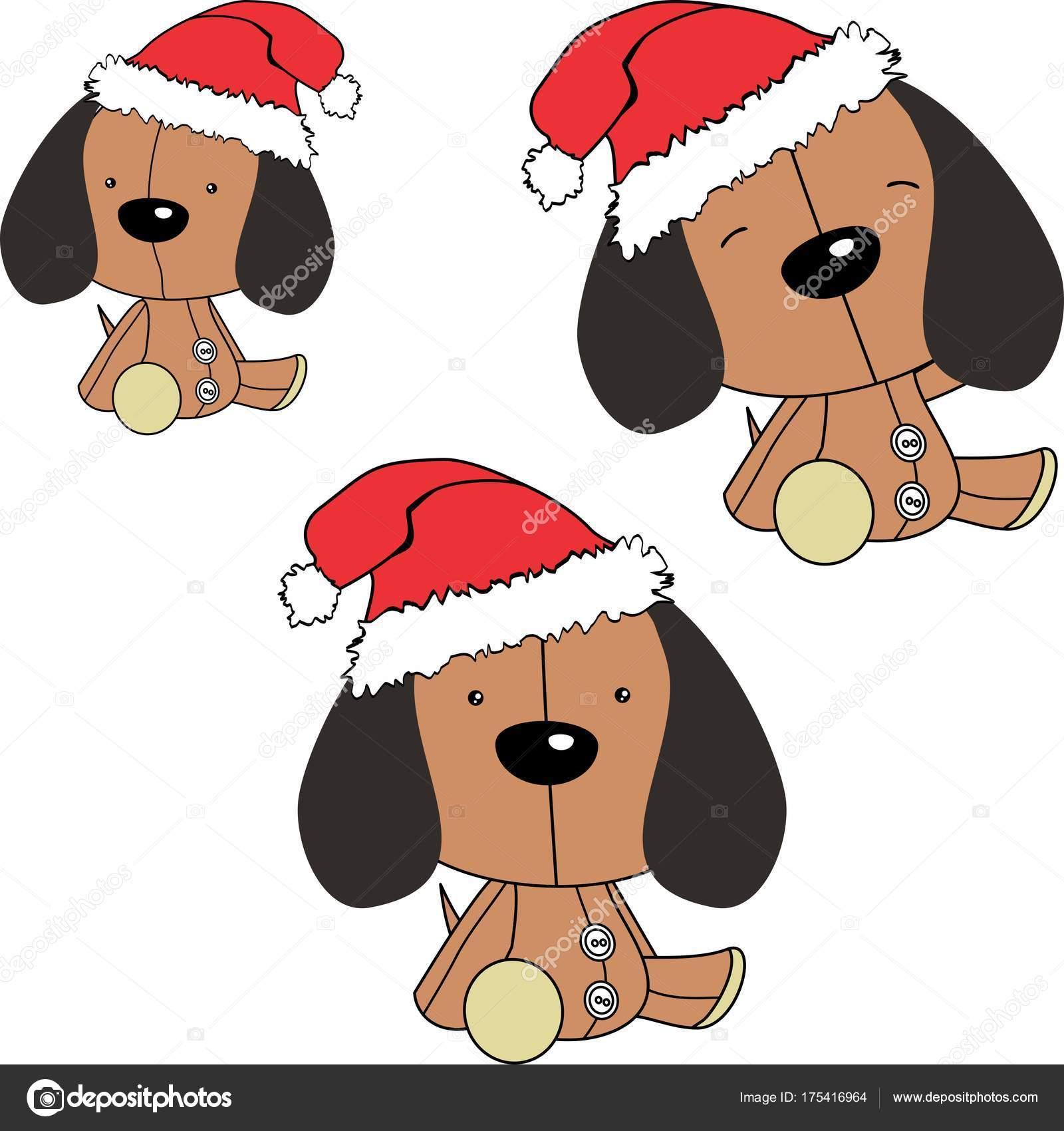 Animado Dibujo De Perrito Bebe Perrito Bebé Sit Navidad Dibujos
