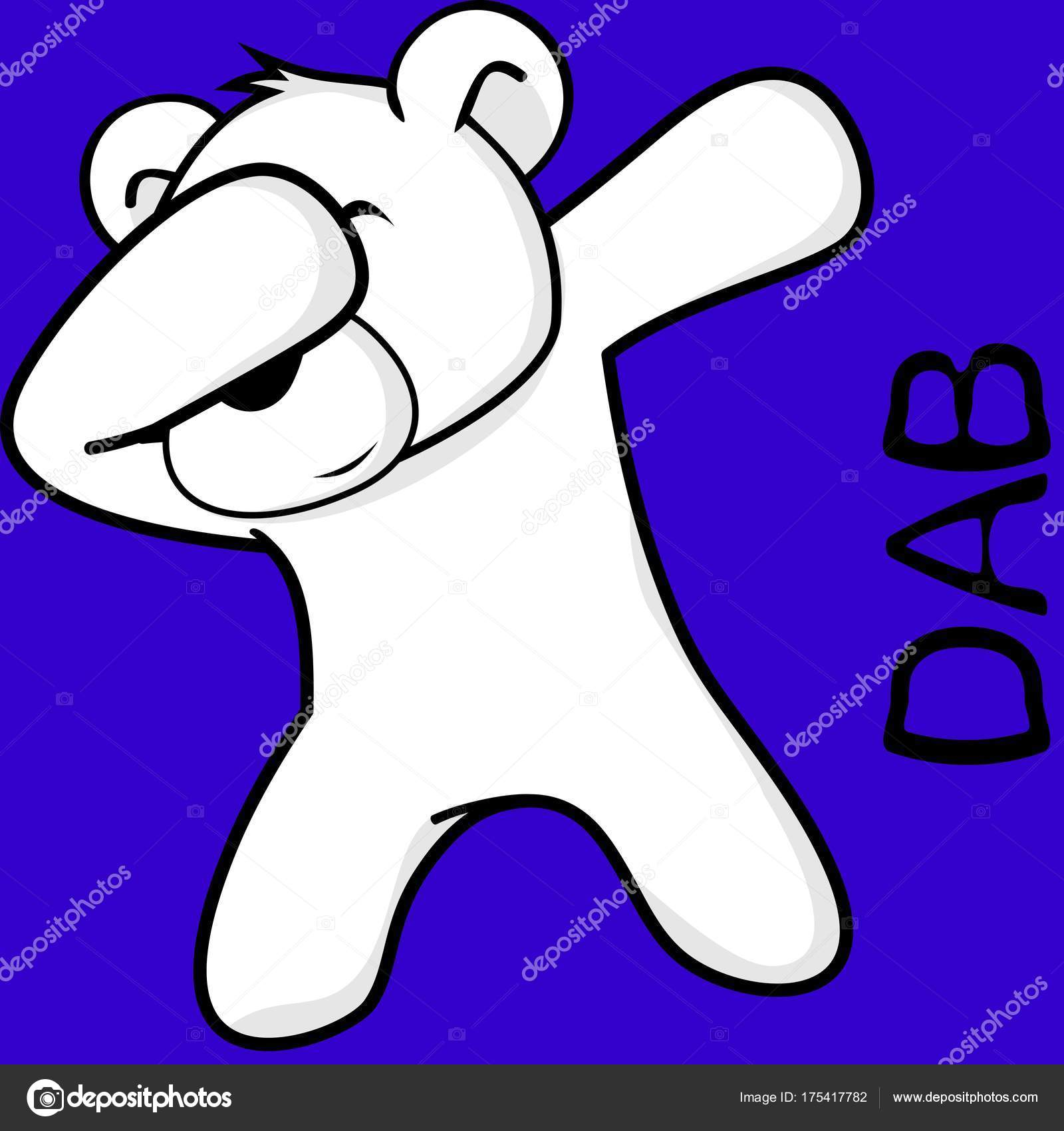 Dibujo Oso Polar Infantil Dab Superficies Pose Oso Polar Nino