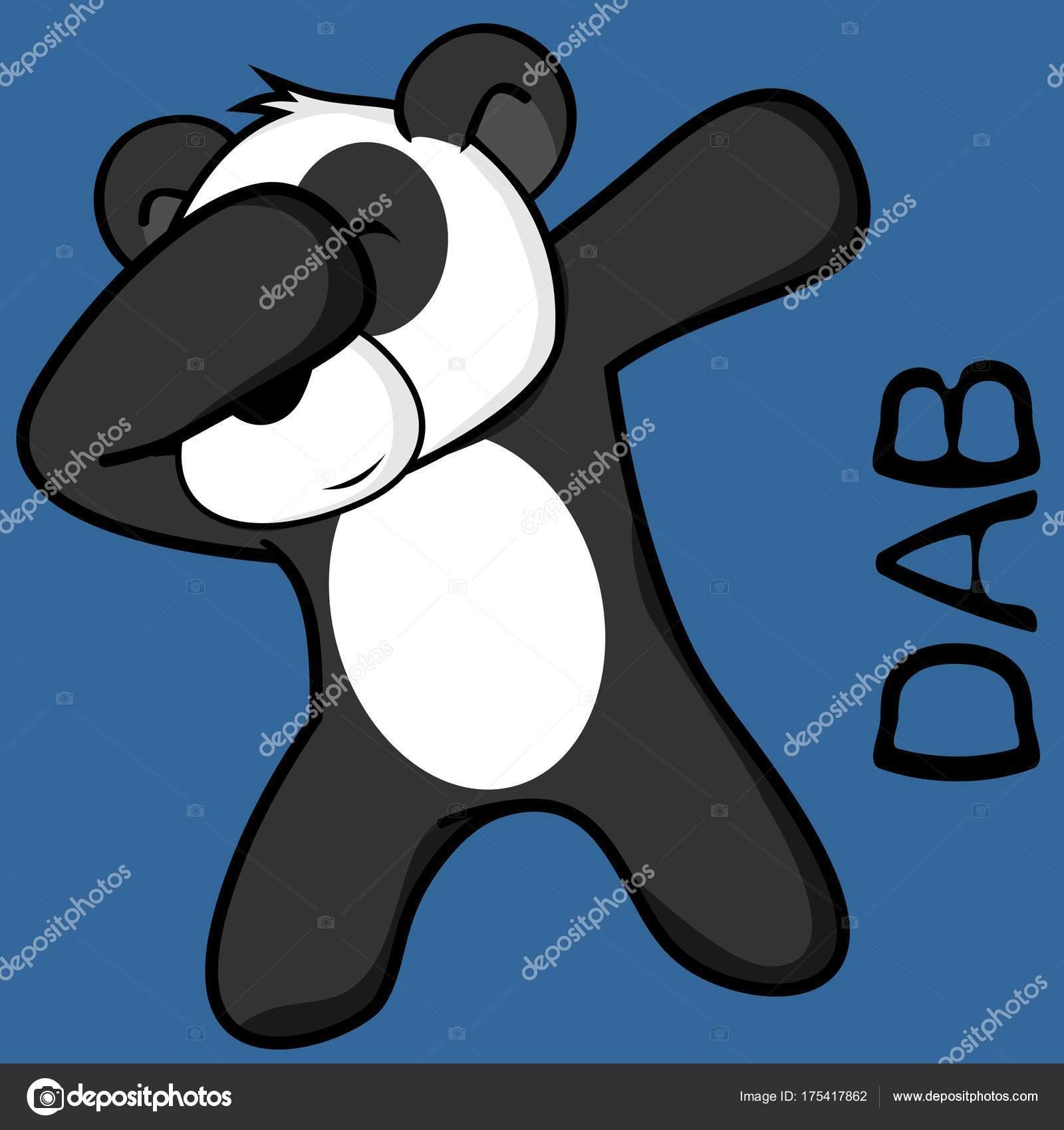Tamponare tamponando posa orso panda kid cartoon formato