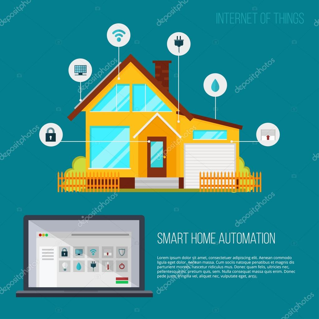 Smart home automation system — Stock Vector © Vitalex #125746438