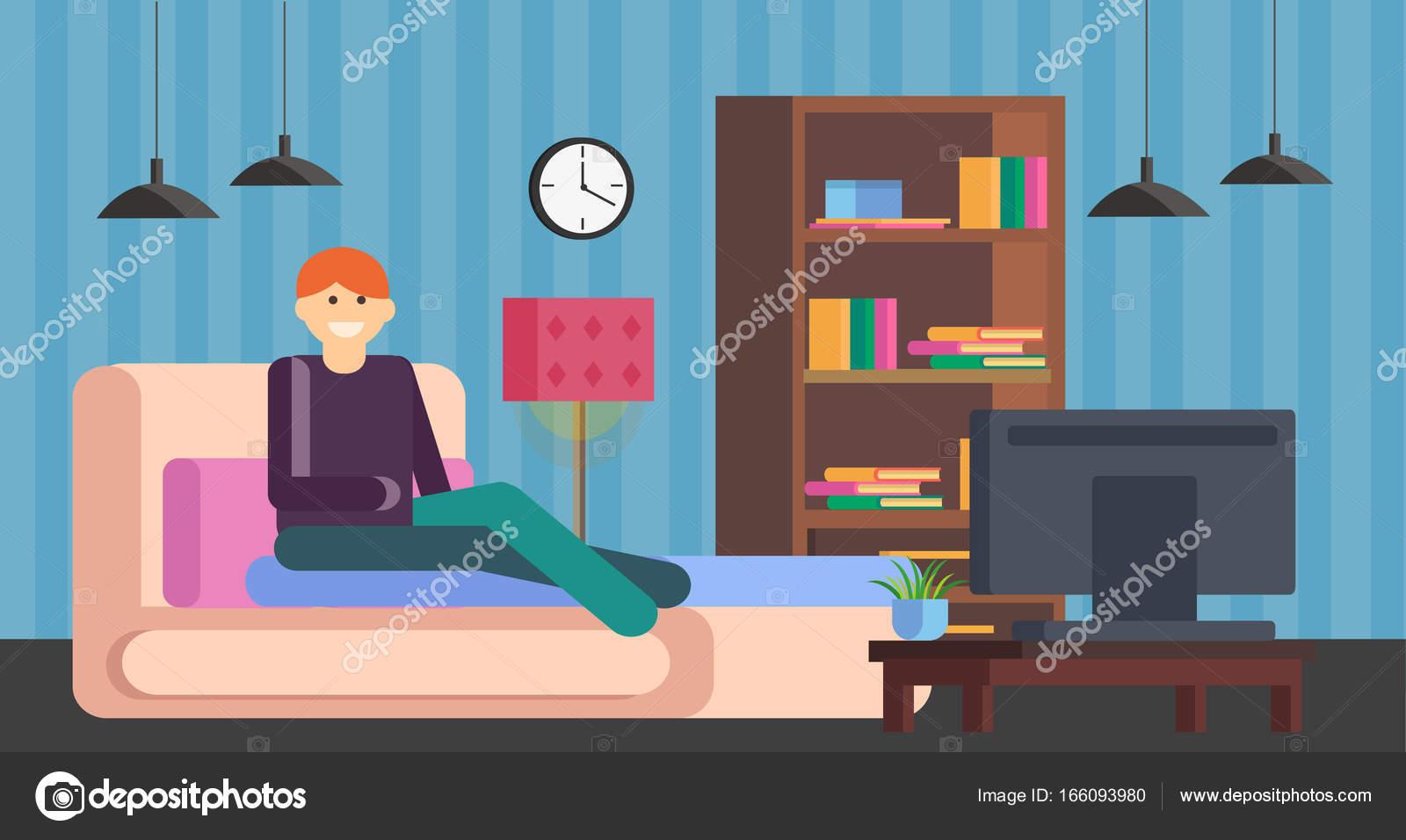 Ver Televisión Niño Conjunto Muebles Para Interior Sala