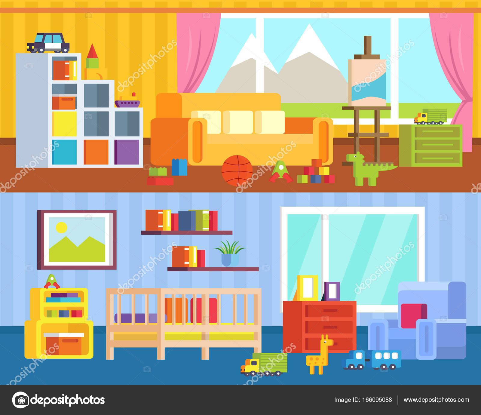 Conjunto Muebles Para Habitaciones Niños Sala Juegos Con Juguetes ...