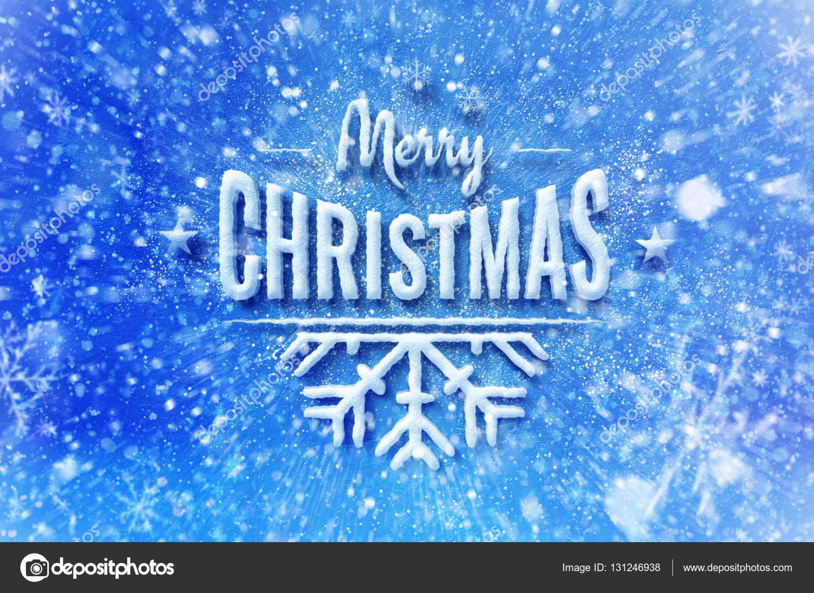 Frohe Weihnachten Schnee Schriftzug Design, Wunsch Weihnachtskarte ...