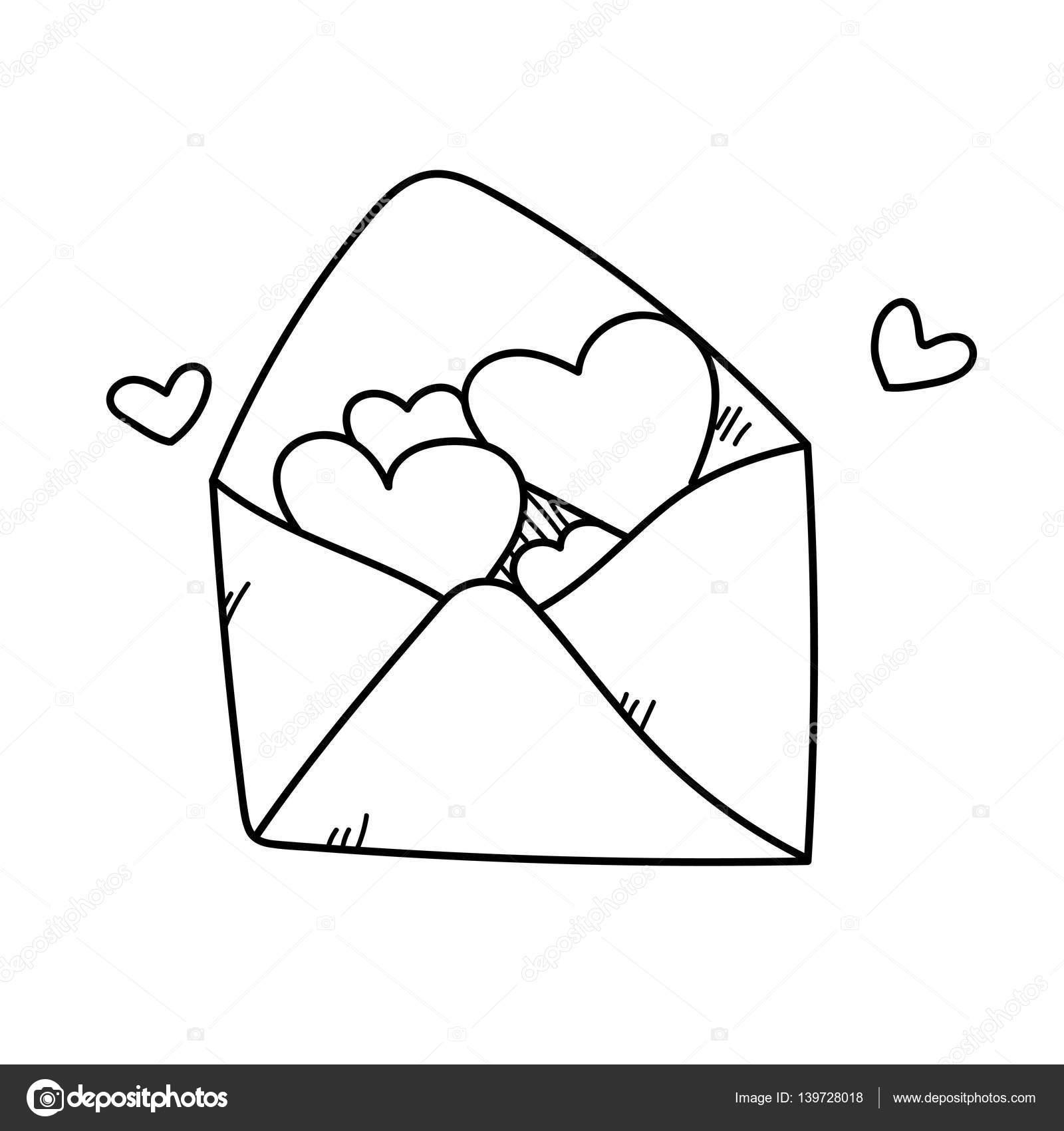 Dessin à Main Levée Illustration Lettre Amour Photographie