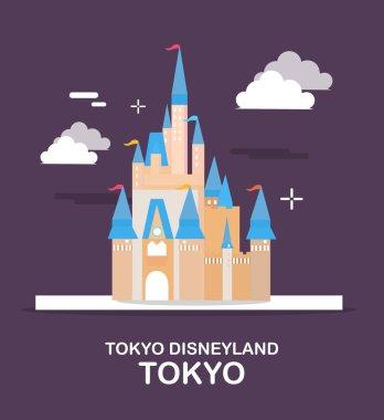 Amazing amusement park in Japan illustration