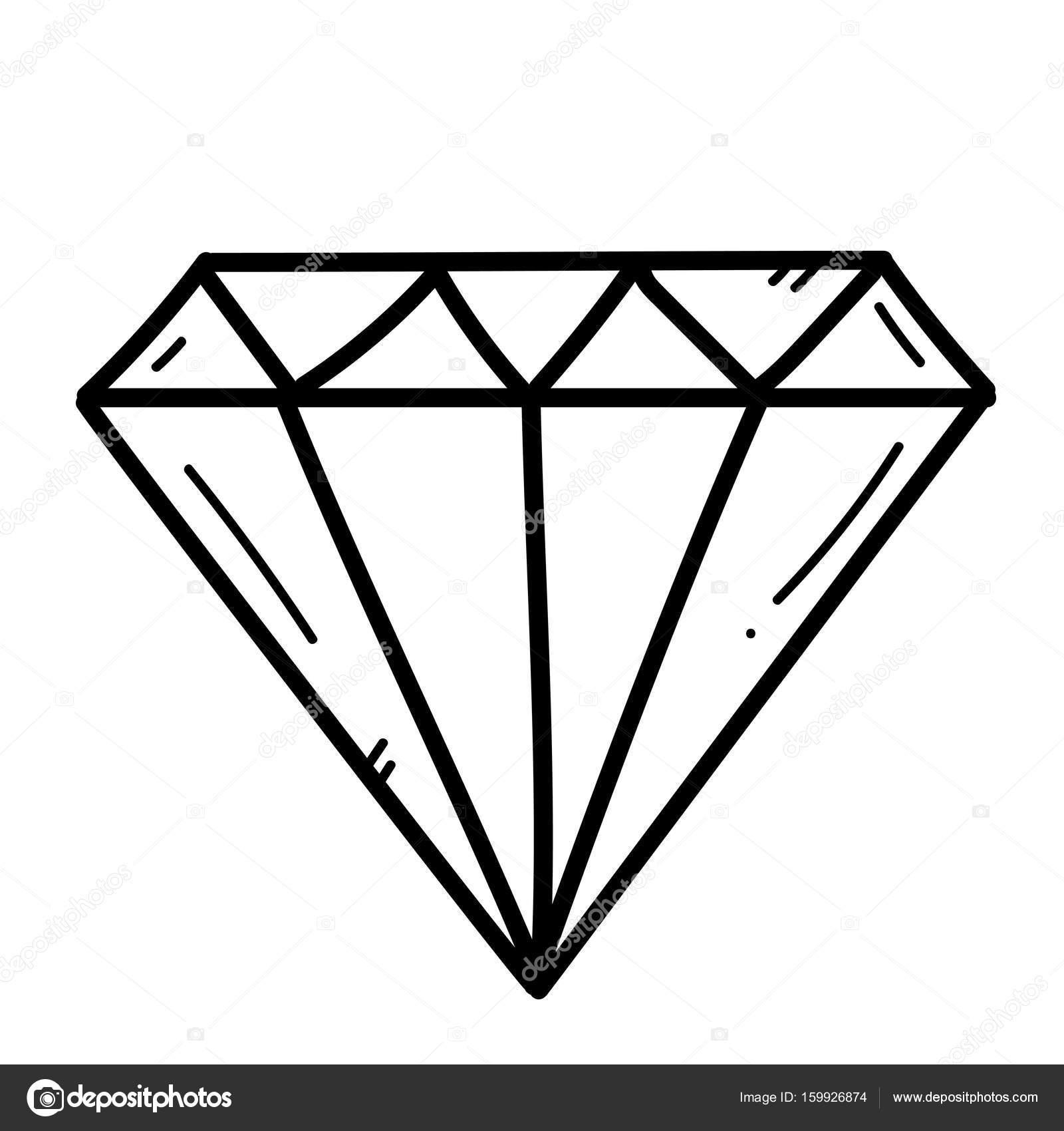 Diamante m o livre desenho de ilustra o em fundo - Diamant dessin ...