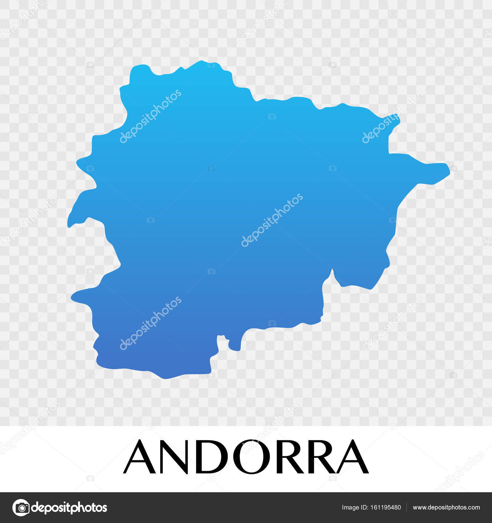 andorra map in europe continent illustration design stock vector