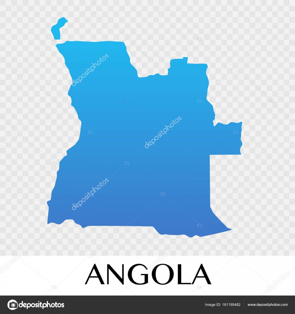 Angola Map In Africa Continent Illustration Design Stock Vector