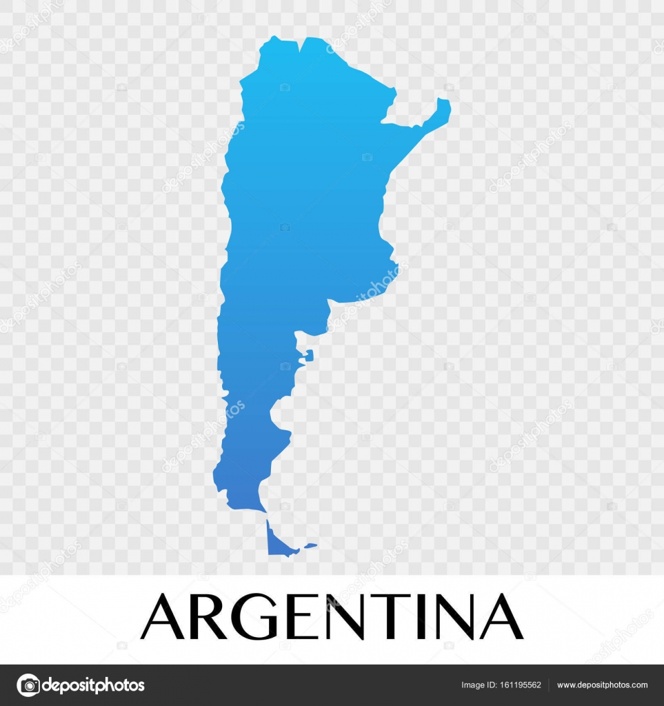 Argentina map in South America continent illustration design ... on