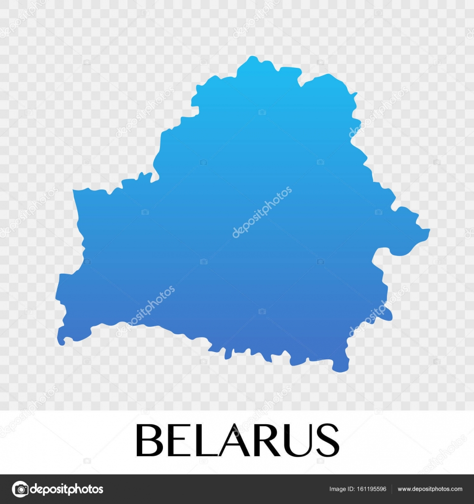 belarus map in europe continent illustration design stock vector