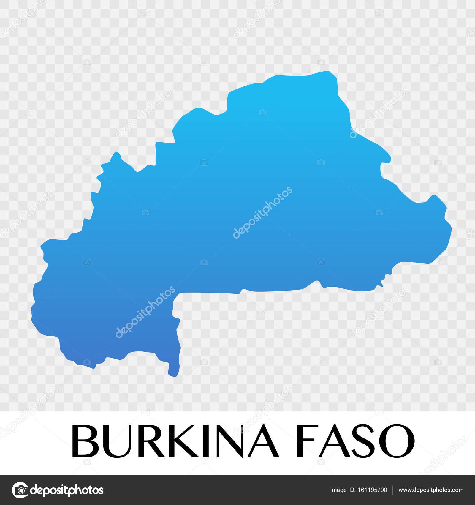 Burkina Faso Map In Africa Continent Illustration Design Stock