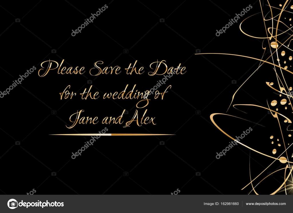 Vektor-Einladung-Vorlage mit der goldenen Hand geschrieben ...