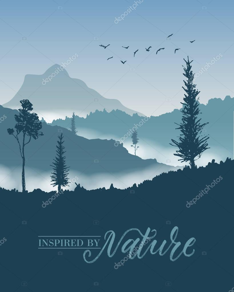 Nature mountains background.