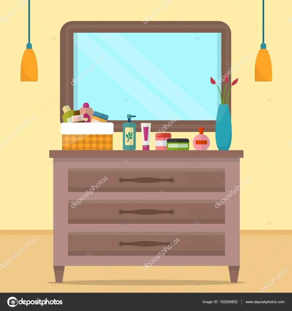 Vrouw boudoir met tabel — Stockvector © Elvetica #152936852