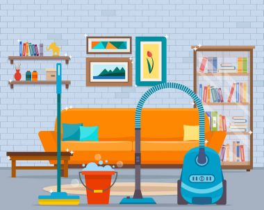 Cleaning with vacuum cleaner