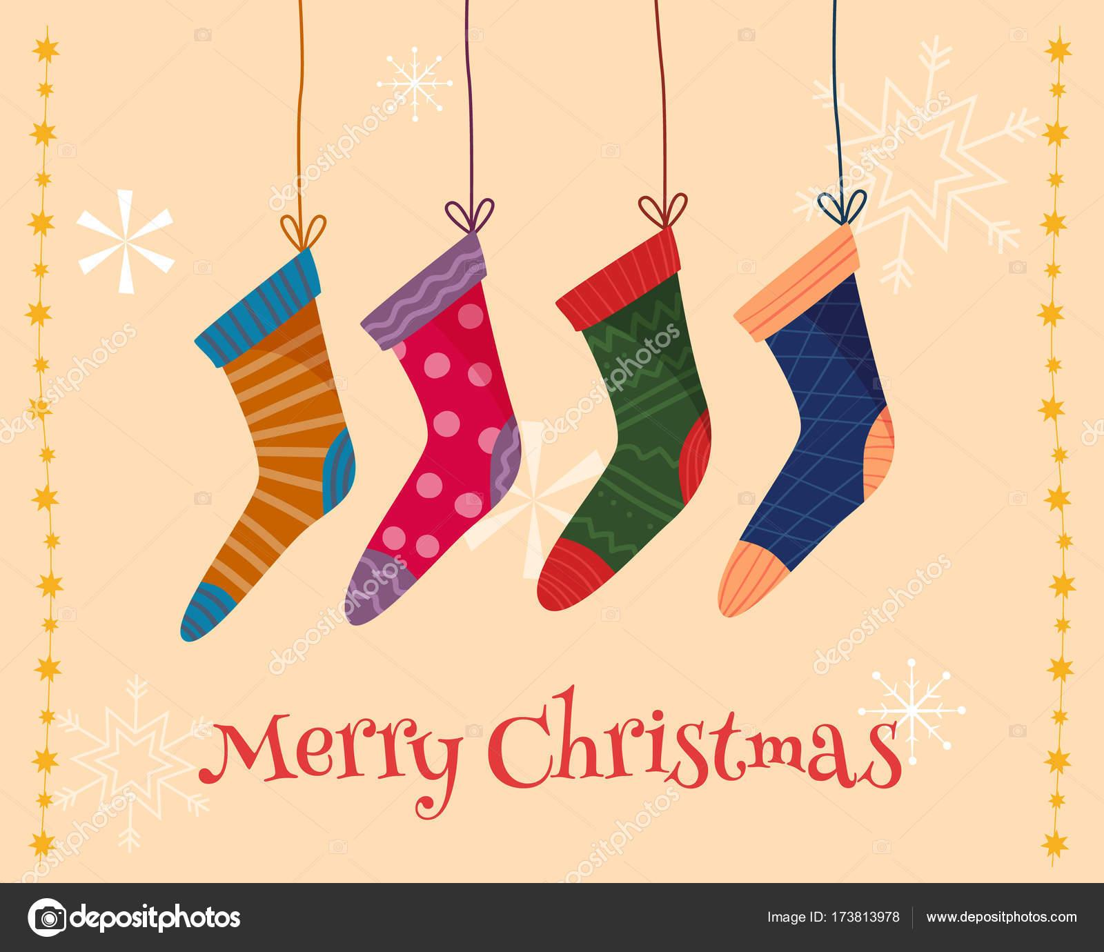 c6380ee426d Vánoční barevné ponožky — Stock Vektor © Elvetica  173813978