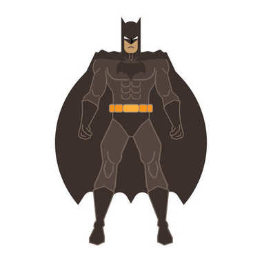 Full height superhero Batman costume