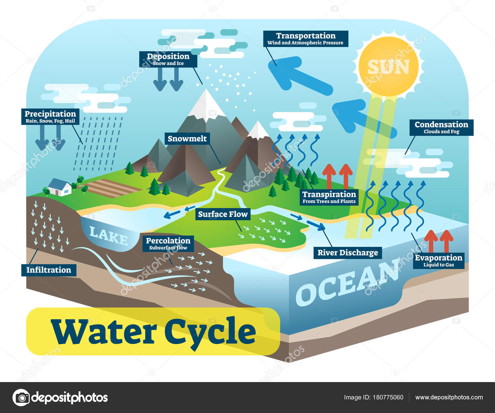 13 147 Water Cycle Vector Images Free Royalty Free Water Cycle Vectors Depositphotos