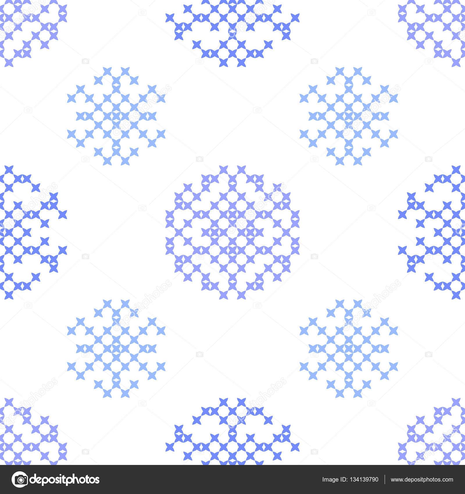 Sin costura bordado textura de los copos de nieve Resumen — Archivo ...