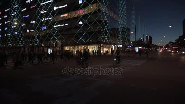h c andersens boulevard bei Nacht, Kopenhagen, Dänemark