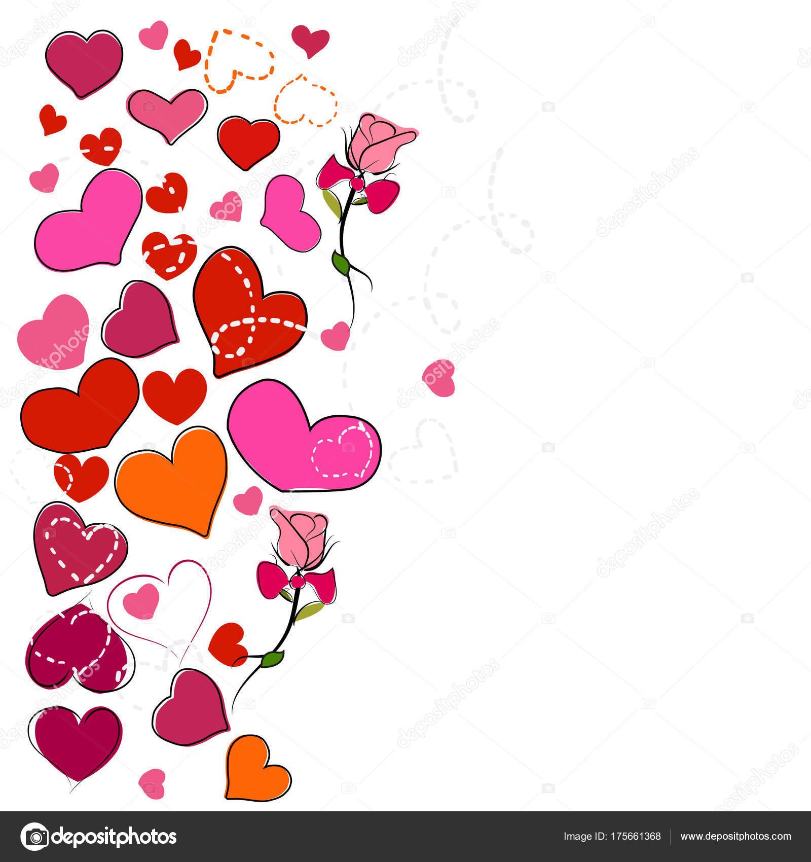 papel decorativo de corazones rosados - Buscar con Google