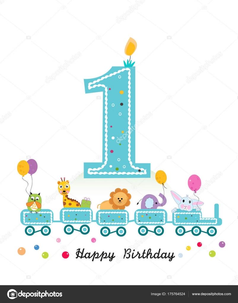 Buon Primo Compleanno Biglietto Auguri Treno Compleanno Con Gli
