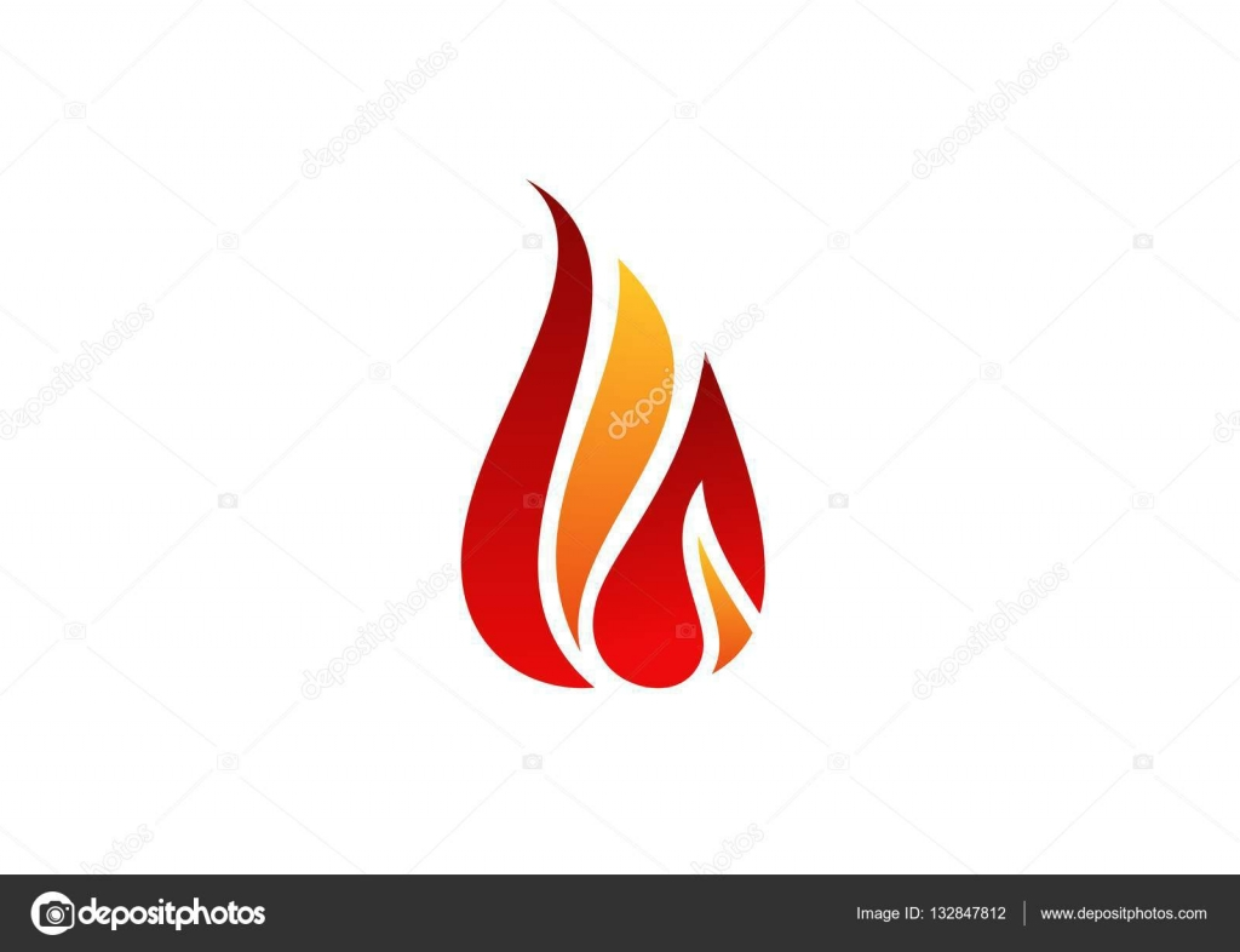 fogo chama logotipo s237mbolo de fogo quente 237cone