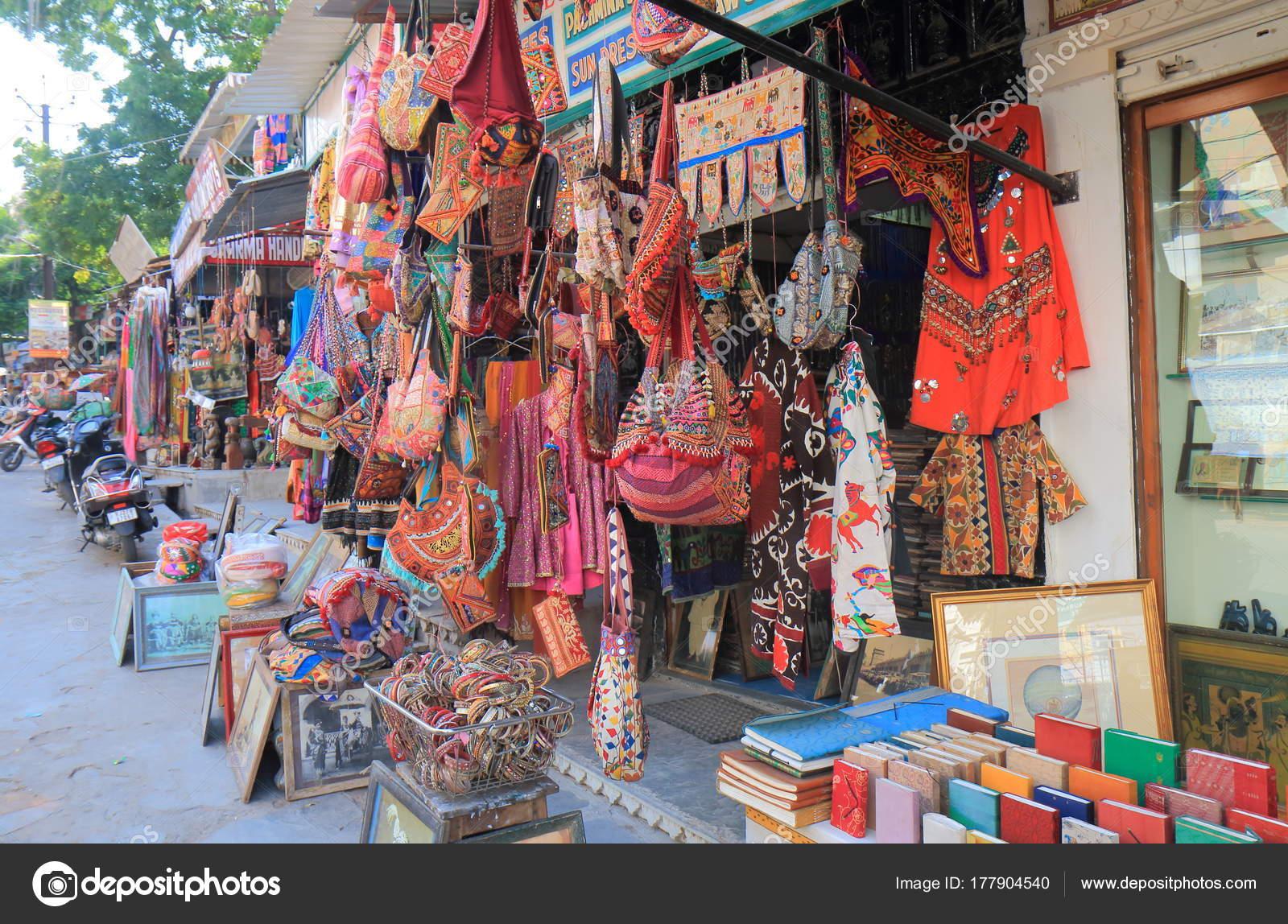 Udaipur India October 2017 Souvenir Shop Sells Beautiful Handicraft