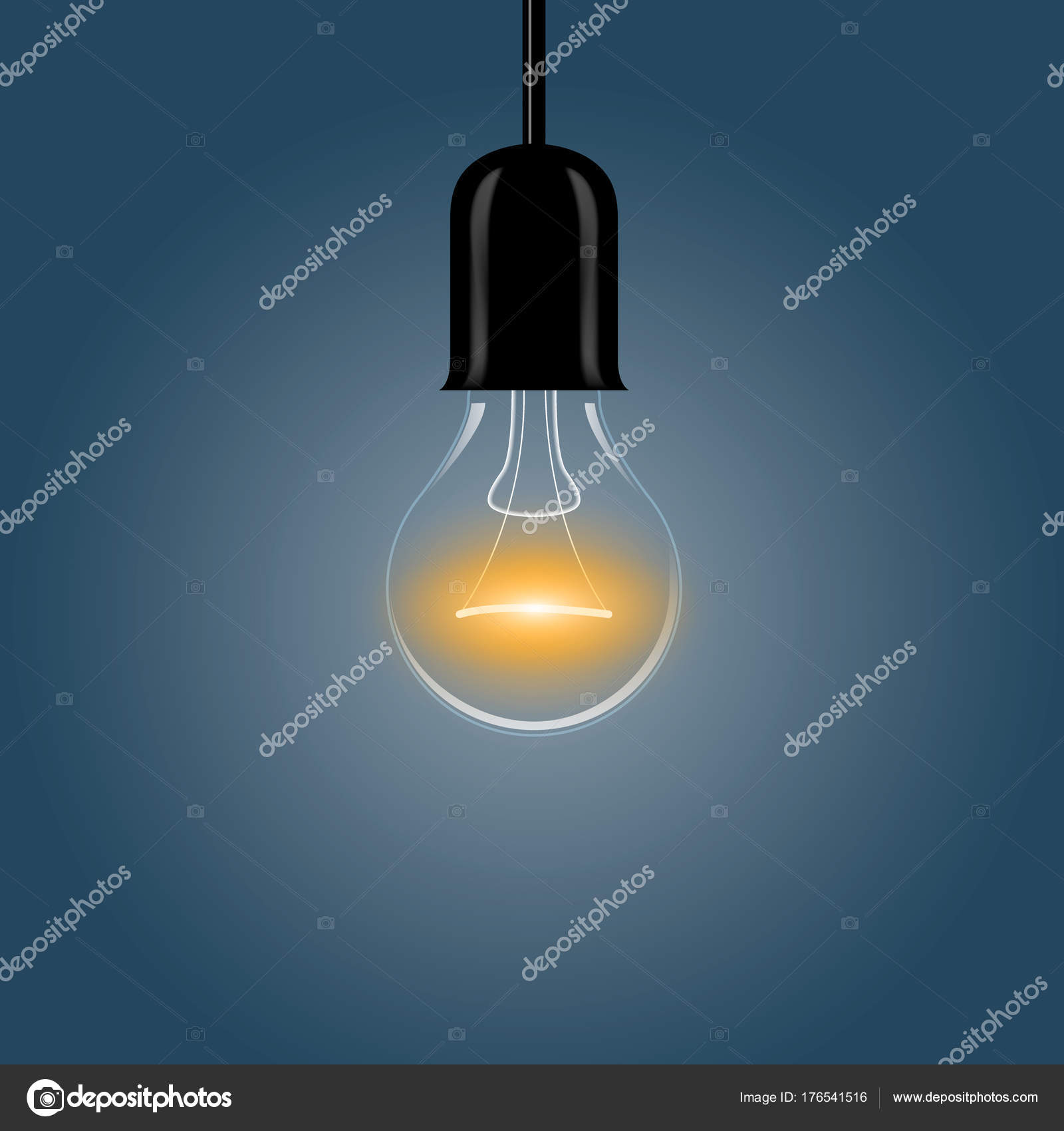 A realistic electric light bulb hanging from the ceiling stock a realistic electric light bulb hanging from the ceiling vector illustration vector by stalkerstudent aloadofball Gallery