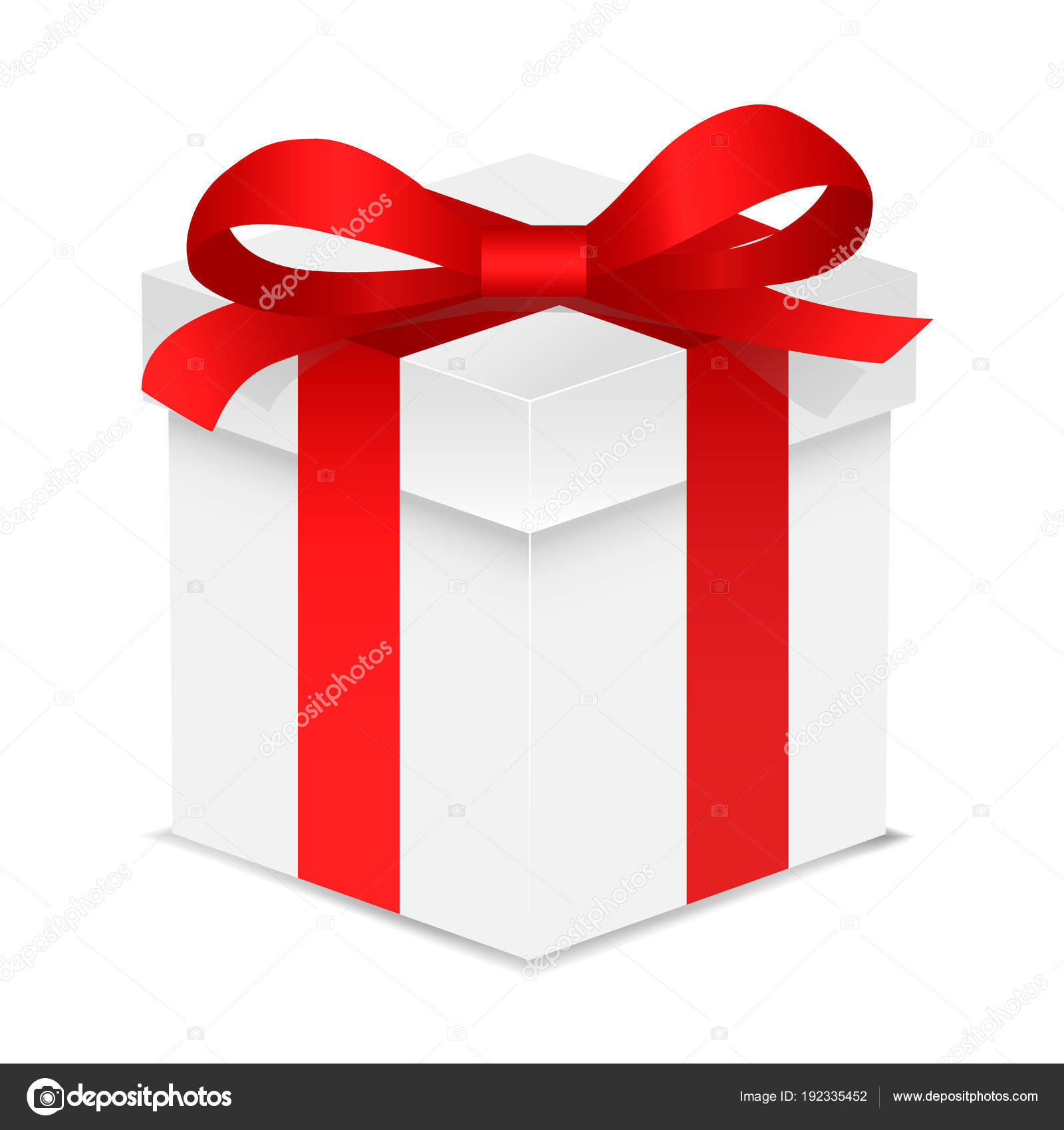 Gift box with red color bow knot and ribbon isolated on white gift box with red color bow knot and ribbon isolated on white background happy birthday negle Gallery