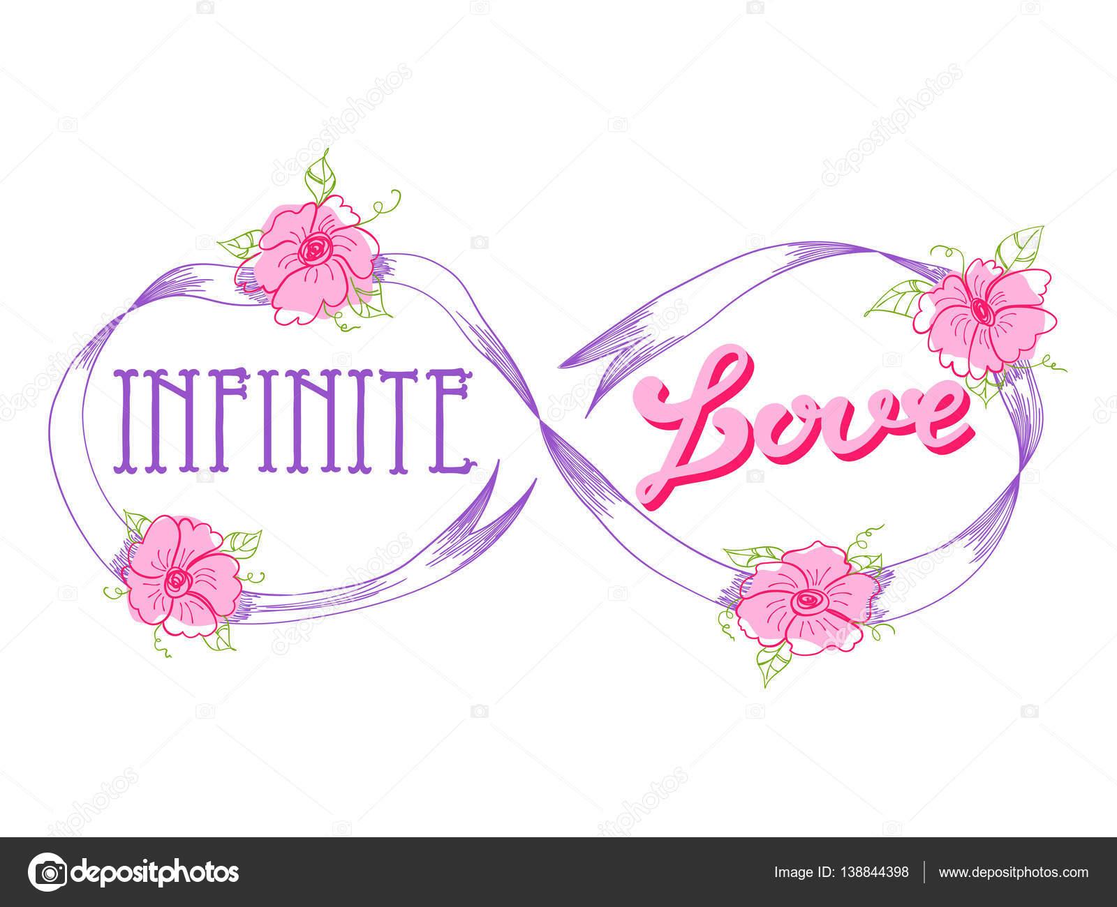 Tarjeta De Amor Infinito Archivo Imagenes Vectoriales C Tanyalmera
