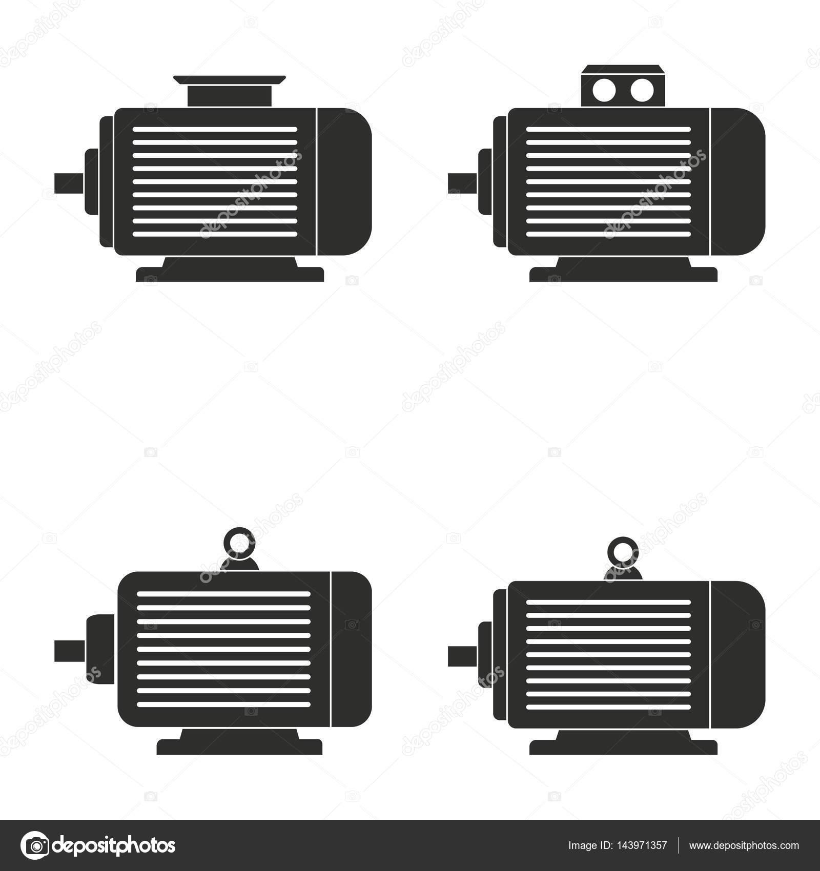 Jeu Dicônes De Moteur électrique Image Vectorielle Lovemask