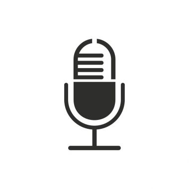 Microphone vector icon.