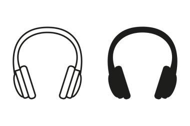 Headphone vector icon.