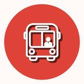 Autobus - vektorové ikony