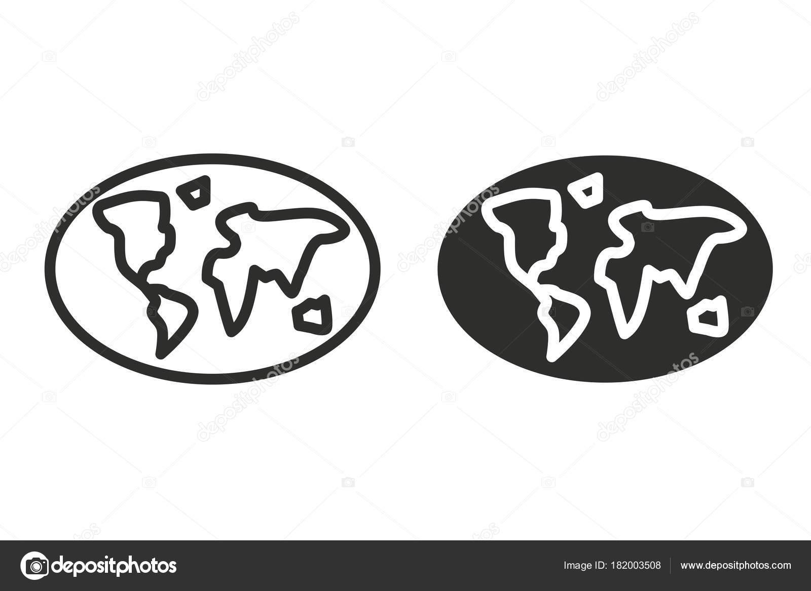 Globe Vector Icon Black Illustration Isolated White Background Graphic Web  U2014 Stock Vector
