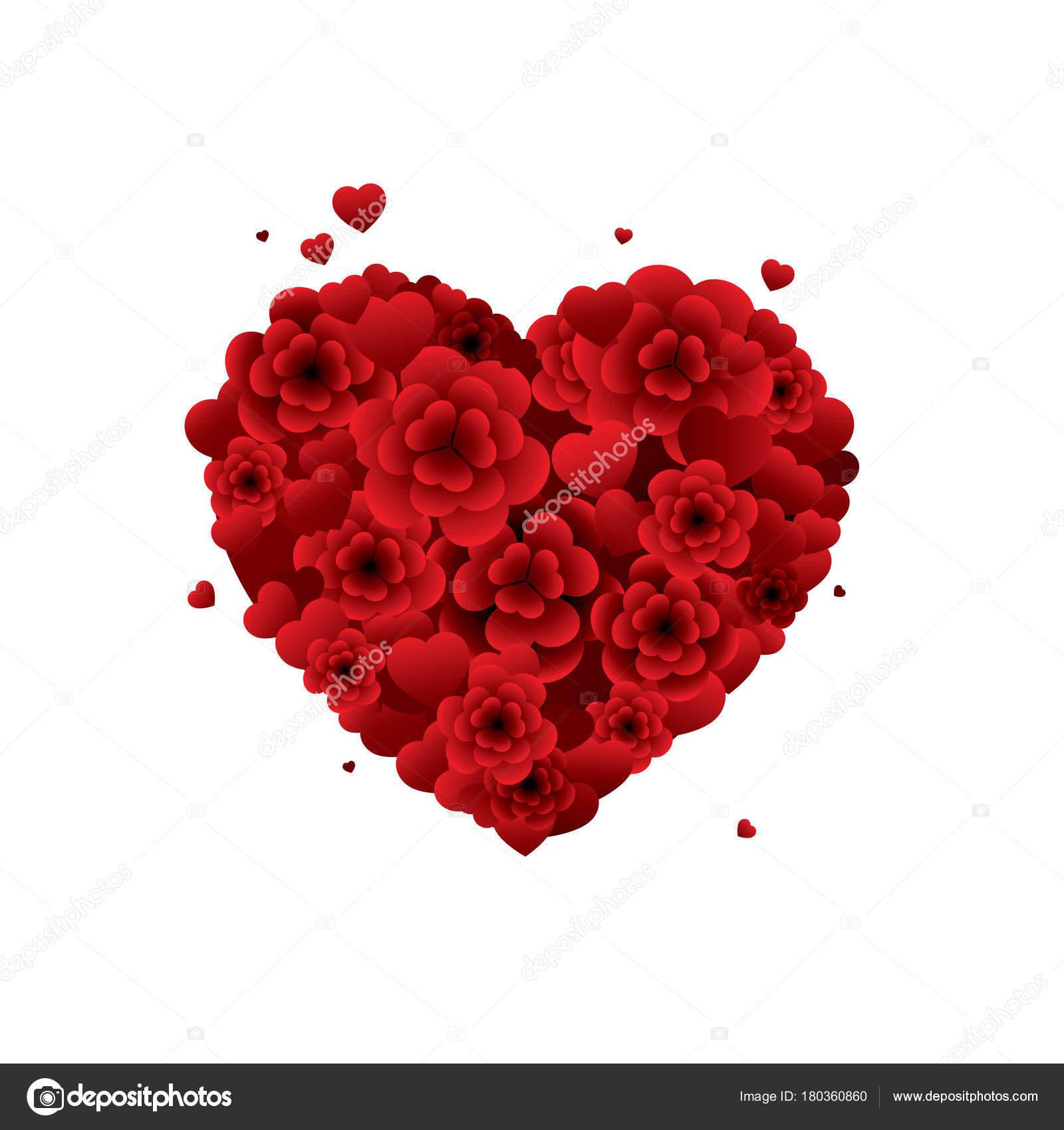bouquet fleurs forme coeur — image vectorielle juicybloom © #180360860