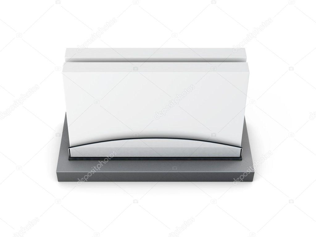 Visitenkarten Etui Isoliert Auf Weißem Hintergrund 3d