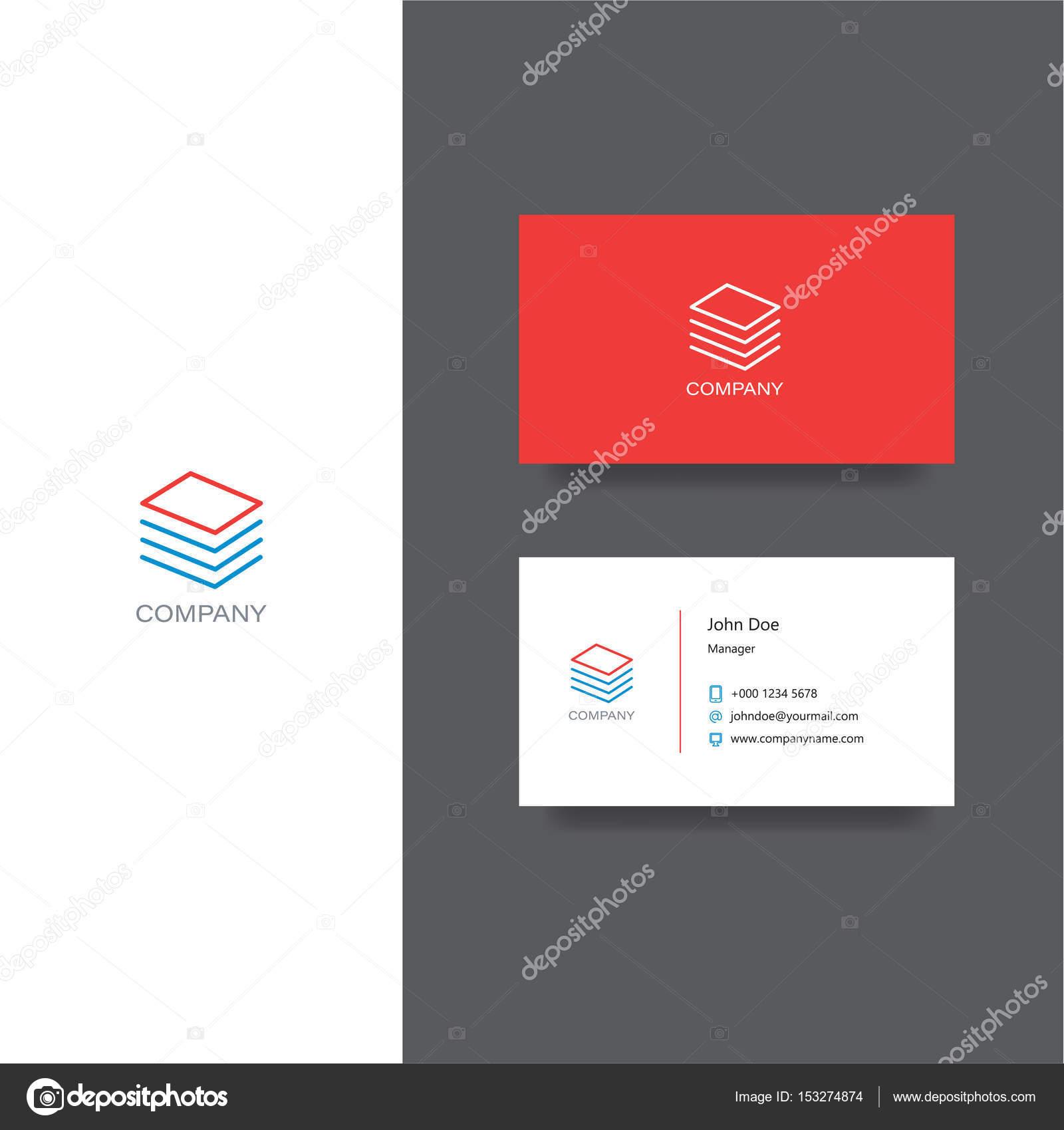 Documents Financiers De Lentreprise Logo Et Modele Carte Visite Illustration Stock
