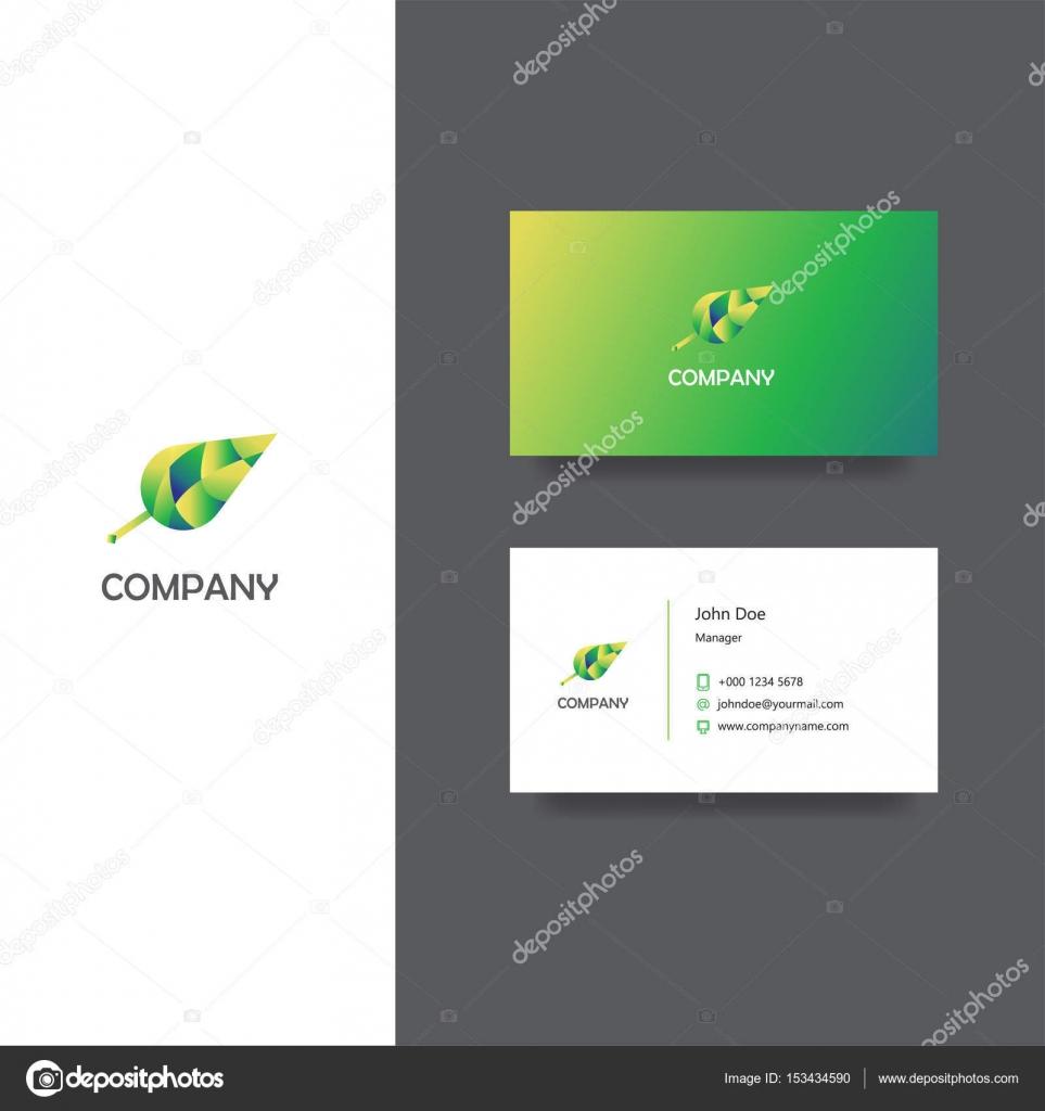 Cration Agence Eco Entreprise Logo Et Carte De Visite Modle Ou Image Vectorielle